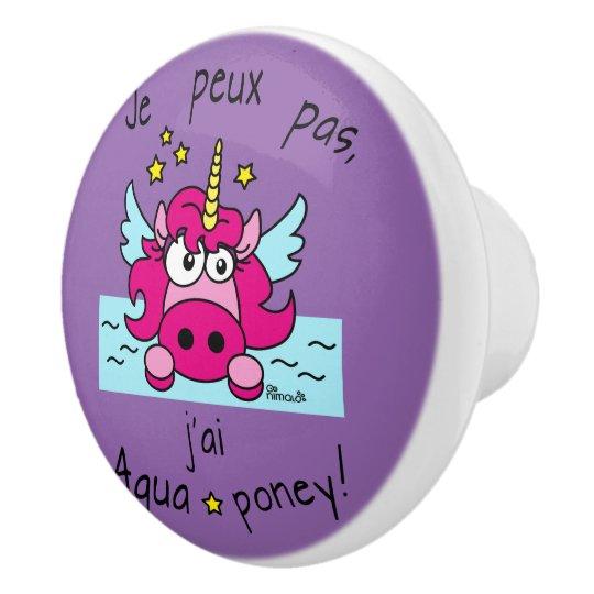 "Bouton de porte ""Licorne, Aquaponey"""
