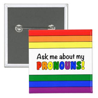 Bouton de pronoms (arc-en-ciel) badges