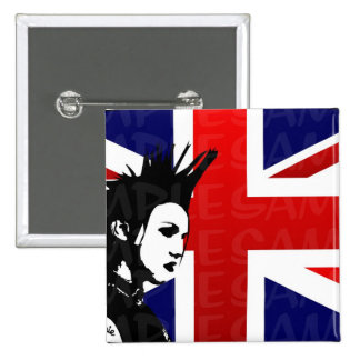 Bouton de punk d'Union Jack Badge