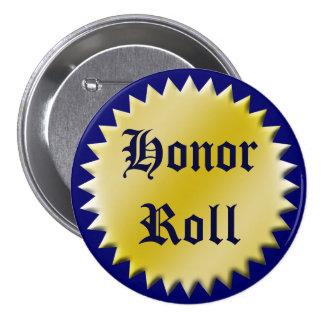 Bouton de récompense de petit pain d'honneur, pers badges