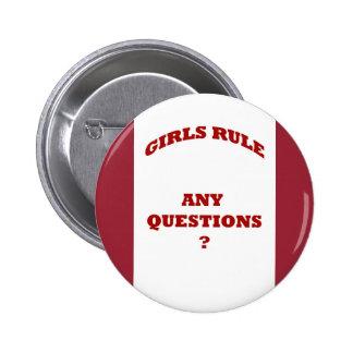 Bouton de règle de filles badge