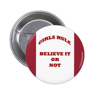 Bouton de règle de filles badge rond 5 cm