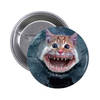 Bouton de requin de chat badge