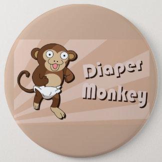 Bouton de singe de couche-culotte badge