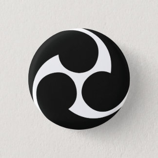 Bouton de Taiko de 左三つ巴 de Hidari Mitsudomoe Badges