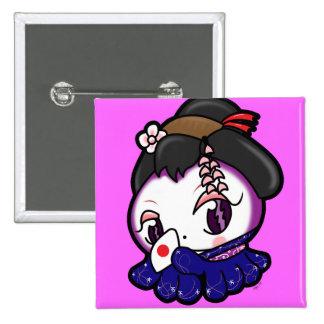 Bouton de Tako-Chan de geisha Badge