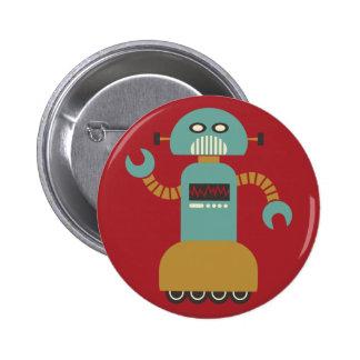 Bouton de talent de robot de rouleau badges