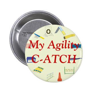 Bouton de titre d'agilité badges avec agrafe