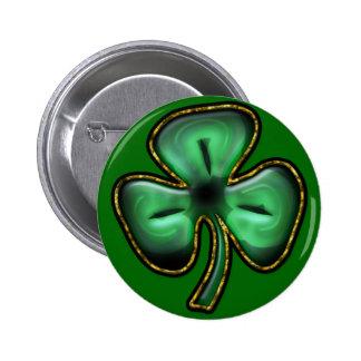 Bouton de trèfle du jour de St Patrick Badge