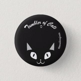 Bouton de TumblerofCats - noir sur TumblerCat noir Pin's
