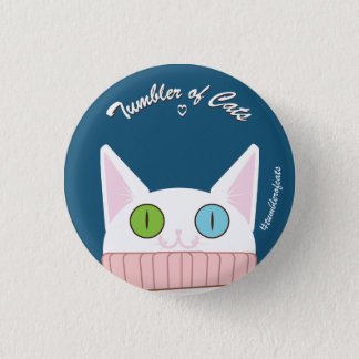 Bouton de TumblerofCats - TumblerCat blanc Badge