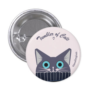 Bouton de TumblerofCats - TumblerCat bleu Badges
