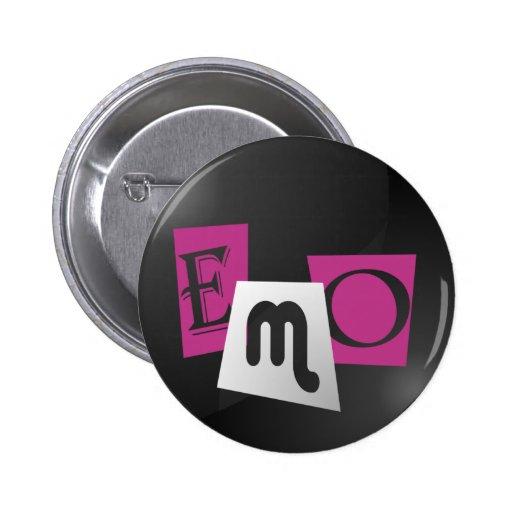 Bouton de typo d'Emo Badge Avec Épingle