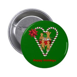 Bouton de vacances de Noël de bonhommes en pain d' Badge