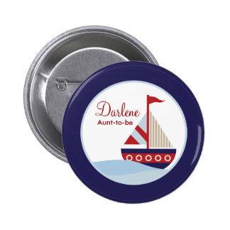 Bouton de voilier badge