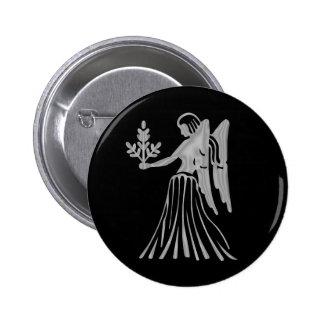 Bouton de zodiaque de Vierge de Vierge Badge