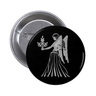 Bouton de zodiaque de Vierge de Vierge Badge Rond 5 Cm