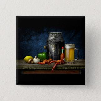 Bouton d'écrevisses et de bière pin's