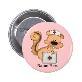 Bouton d'écureuil d'infirmière pin's
