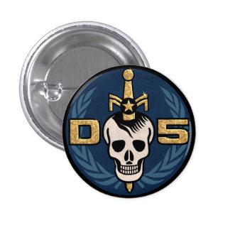 Bouton d'emblème du danger 5 badge