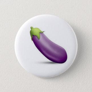 Bouton d'Emoji d'aubergine Badges
