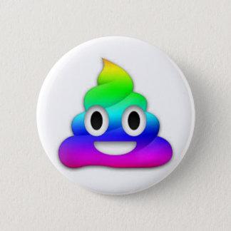 Bouton d'Emoji de dunette d'arc-en-ciel Badges