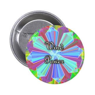 Bouton d'énergie éolienne badges