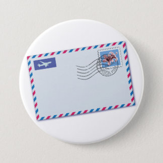 Bouton d'enveloppe de par avion badges