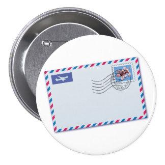 Bouton d'enveloppe de par avion badges