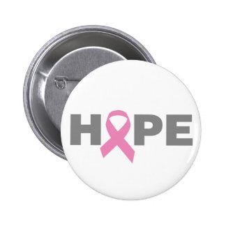 Bouton d'espoir de cancer du sein badge rond 5 cm