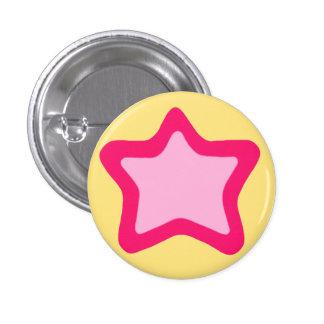 Bouton d'étoile badge rond 2,50 cm
