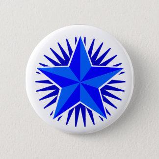 Bouton d'étoile bleue pin's