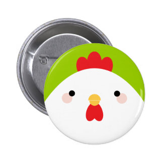 Bouton d'insigne de Pin de poulet de bande Badge