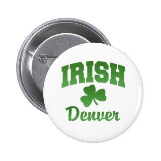 Bouton d'Irlandais de Denver Badge
