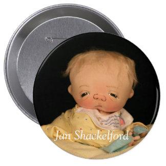 Bouton DJ de bébé de janv. Shackelford Badges