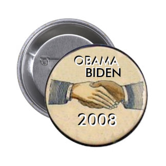 Bouton d'Obama/poignée de main de Biden Badge