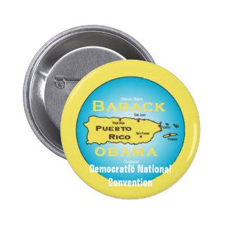 Bouton d'Obama Porto Rico DNC Badge