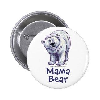 Bouton d'ours blanc de maman Bear Badge Avec Épingle