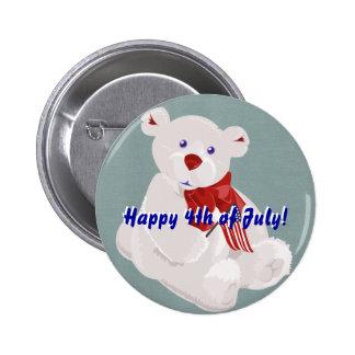 Bouton d'ours de Jour de la Déclaration d'Indépend Pin's