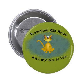 Bouton drôle de berger de chat badge rond 5 cm