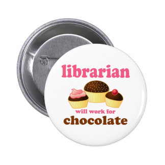 Bouton drôle de bibliothécaire badge rond 5 cm