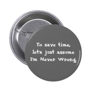 Bouton drôle de citation badge rond 5 cm