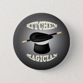 Bouton drôle de magicien de cuisine pin's