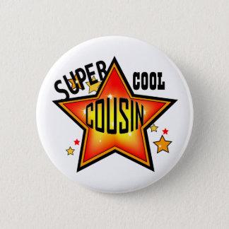 Bouton drôle d'étoile fraîche superbe de cousin badge