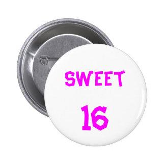 Bouton du bonbon 16 badge rond 5 cm