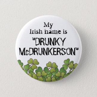 Bouton du jour de mon St Patrick nommé irlandais Pin's