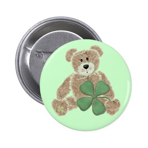 Bouton du jour de St Patrick d'ours de nounours de Badge Avec Épingle