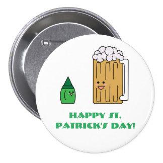 Bouton du jour de St Patrick mignon Badges