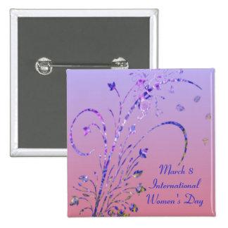 Bouton du jour des femmes florales de Deco Pin's