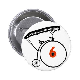 Bouton du numéro 6 - le prisonnier - bicyclette badge